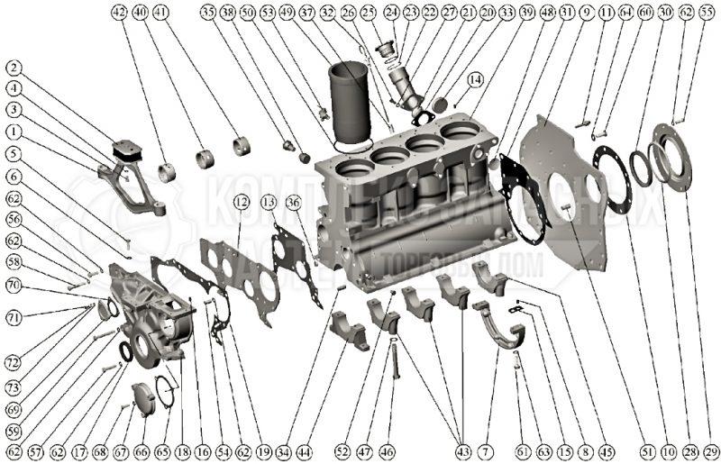 Запчасти Механизмы дизеля МТЗ 80