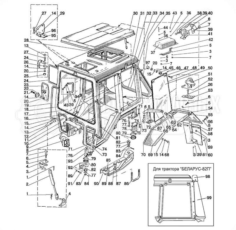 67. Кабина трактора