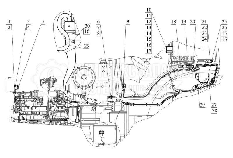 Запчасти Беларус 3522. Электронные системы и управление. Управление двигателем «Deutz»