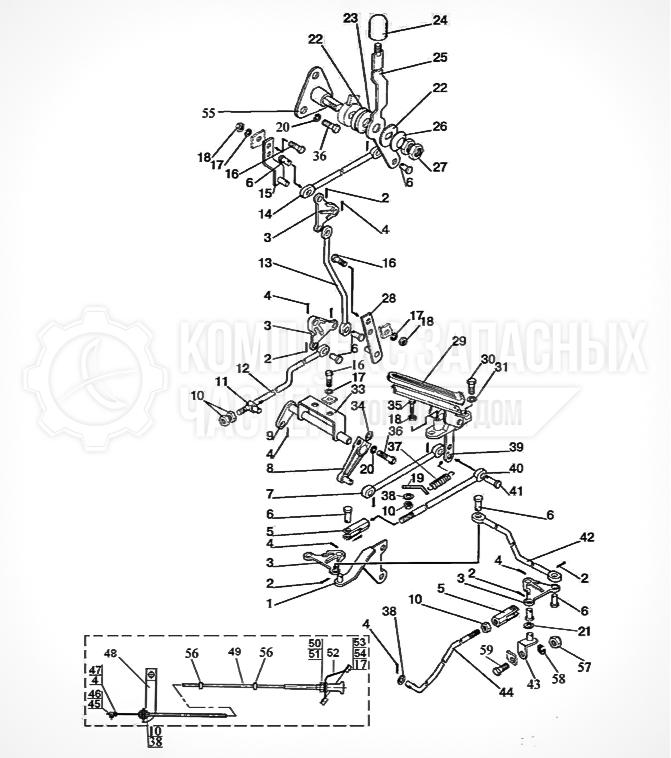 Запчасти МТЗ Беларус 1221. Управление подачей топлива