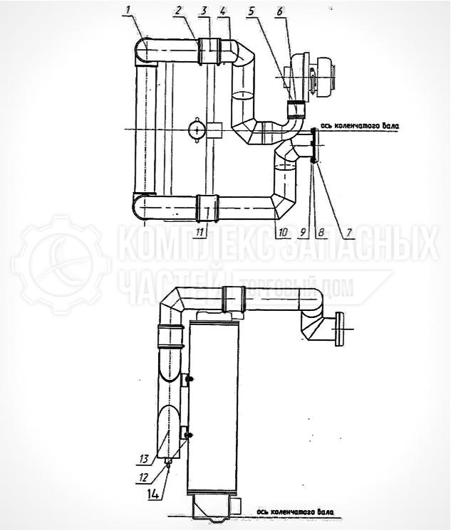Запчасти МТЗ Беларус 1221. Установка охладителя (для трактора «БЕЛАРУС-1221.3/1221В.3»)