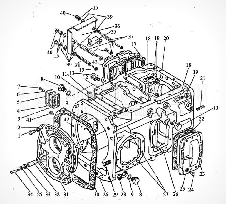Запчасти МТЗ Беларус 1221. Коробка передач 1222-1700010 (24F+12R)