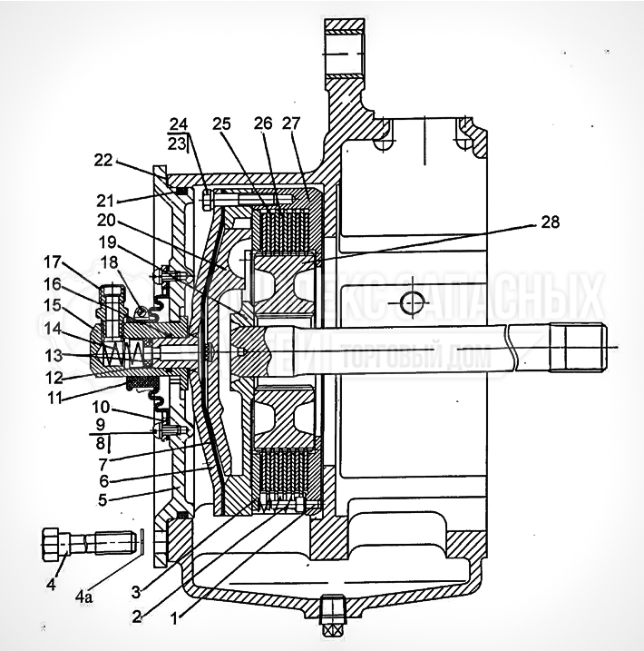 Запчасти МТЗ Беларус 1221. Механизм блокировки дифференциала «мокрого» типа