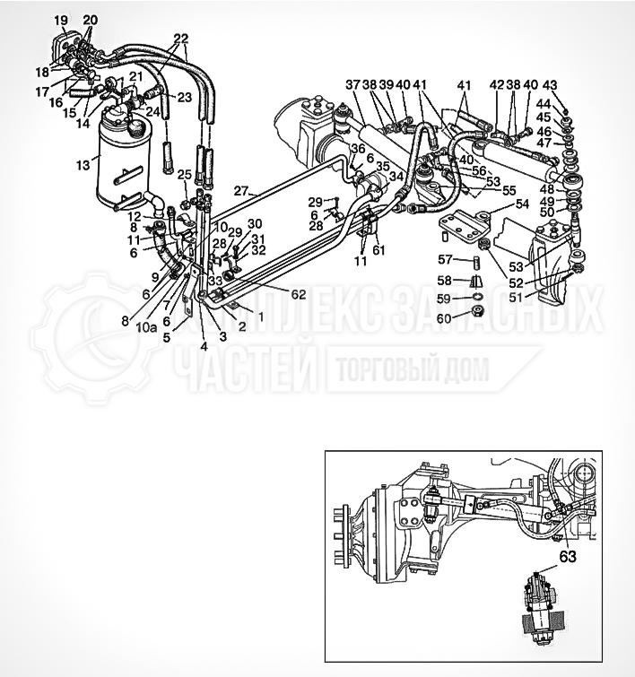 Запчасти МТЗ Беларус 1221. Управление рулевое гидрообъемное