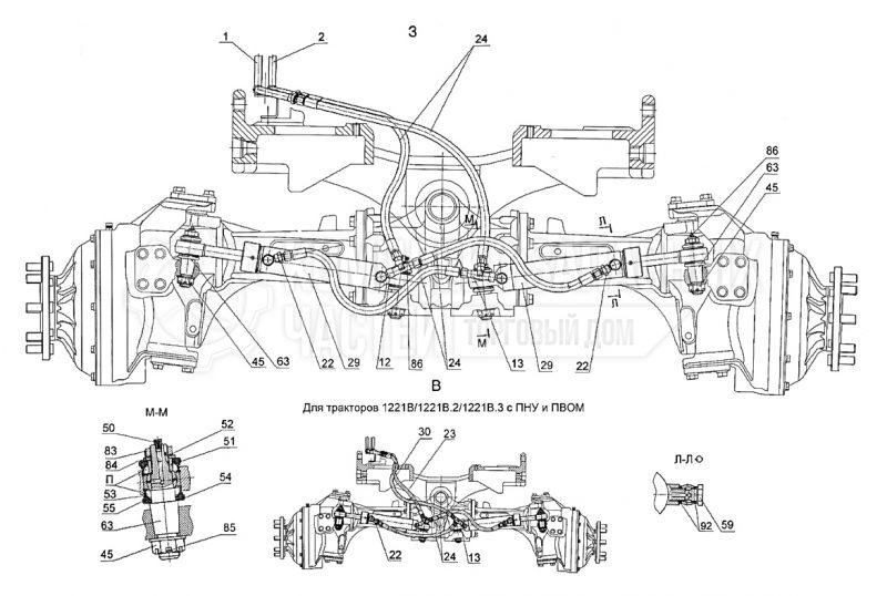 Запчасти МТЗ Беларус 1221. Управление рулевое гидрообъемное (реверс)