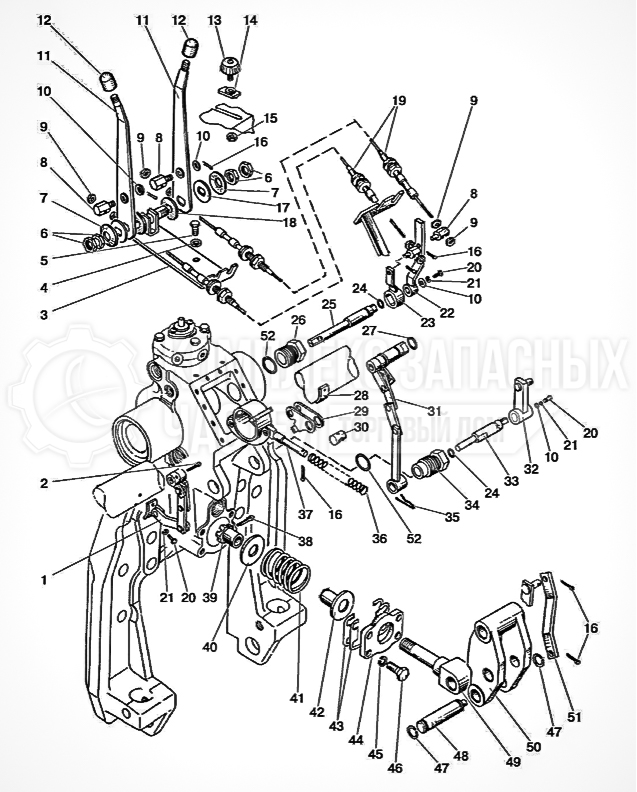 Запчасти МТЗ Беларус 1221. Гидроподъемник. Управление гидроподъемником
